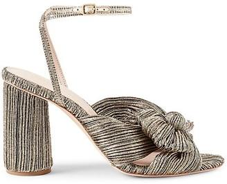 Loeffler Randall Camellia Knotted Metallic Sandals