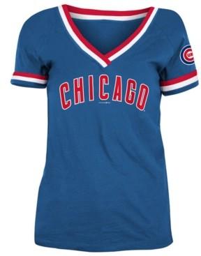 5th & Ocean Chicago Cubs Women's Contrast Binding T-Shirt