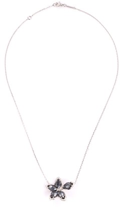 Stephen Webster 'Love me, Love Me Not' diamond hematite 18k white gold necklace