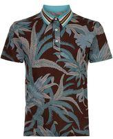 Valentino Palm Print Polo Shirt