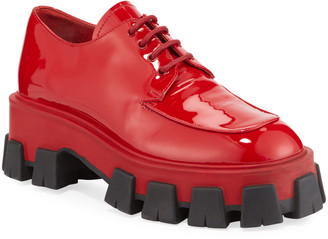 Prada Shiny Chunky Lace-Up Shoes