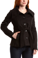 Black Knit Button-Front Jacket