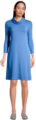 Lands' End Women's French Terry Cowlneck Sweaterdress