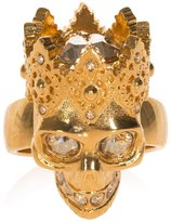 Alexander McQueen Crowned Skull Ring