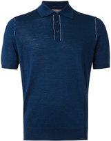 Cruciani classic polo shirt - men - Silk/Linen/Flax - 48