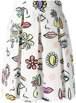 Moschino printed pleated skirt - women - Cotton/other fibers - 40