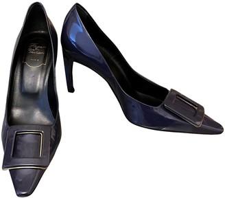 Roger Vivier Trompette Blue Patent leather Heels