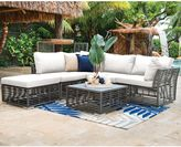 Panama Jack Graphite 6-Piece Outdoor Sectional Set in Grey