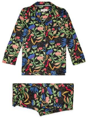 Little Yolke Anais Floral Silk Pyjama Set (4-12 Years)