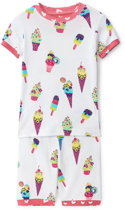 Hatley Ice Cream Cones Fitted Two-Piece Pajamas
