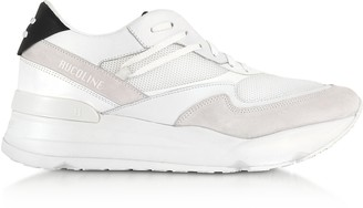 Ruco Line White Nylon and Leather R-Evolve Men's Sneakers