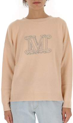 Max Mara Ribbed Logo Sweater