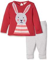 Kite Baby Girls' Bunny Knit Clothing Set,6-12 Months