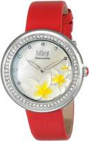 Burgi Women's BUR116RD Analog Display Japanese Quartz Red Watch