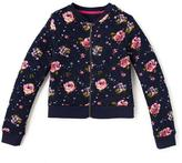 Nevada Girls Quilted Full Zip Floral Bomber