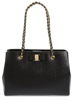 Salvatore Ferragamo Melike - Small Leather Shopper - Black