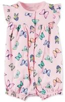 Carter's Butterfly-Print Flutter-Sleeve Romper, Baby Girls (0-24 months)