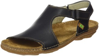 El Naturalista Women's N309 Soft Grain Black/Torcal Flat Sandal 36 Medium EU (6 US)