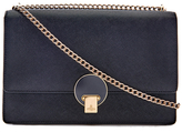 Vivienne Westwood Women's Opio Saffiano Leather Large Fold Over Shoulder Bag Black