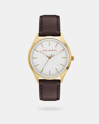Ted Baker MANHAA Pebble grain leather strap watch