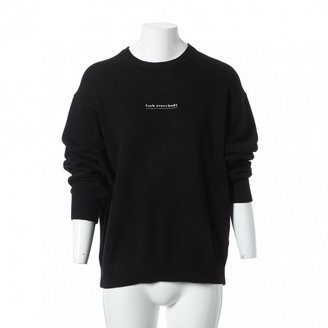 Supreme Black Cotton Knitwear for Women