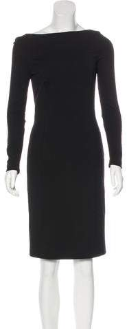Prada Long Sleeve Knee-Length Dress