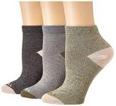 Merrell Marl Contrast Heel/Toe 3-Pack (Gray Marl Assorted) Women's Crew Cut Socks Shoes