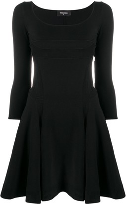 DSQUARED2 Scoop Neck Flared Dress