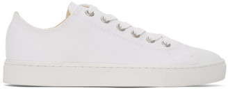 Junya Watanabe White Cotton Canvas Sneakers