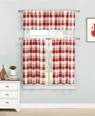 Kingsville 3-Piece Plaid Kitchen Curtain Set