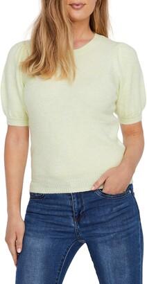 Vero Moda Lefile Puff Short Sleeve Ribbed Sweater