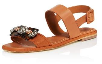 Tory Burch Women's Delaney Embellished Leather Sandals