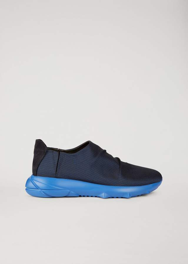 Emporio Armani Sneakers In Technical Fabric With Elasticated Inserts