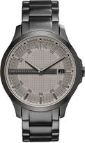 Armani Exchange A|X Men's Gunmetal-Tone Stainless Steel Bracelet Watch 46mm AX2194