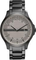 Armani Exchange Men's Gunmetal-Tone Stainless Steel Bracelet Watch 46mm AX2194