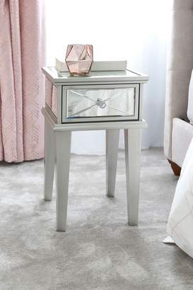 Next Florence 1 Drawer Bedside Table - Silver