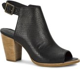 UGG Audrey Exotic Open Toe Textured Women's Leather Bootie 1013417 (7, Black)