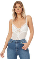 Reverse New Women's Womens Lucy Liu Lace Bodysuit Lace Polyester White