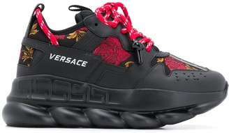Versace Chain Reaction printed low-top sneakers