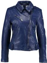 Gipsy FAMOUS Leather jacket atoll blue