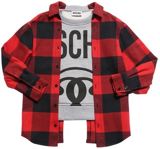 Moschino Tartan & Cotton Sweatshirt