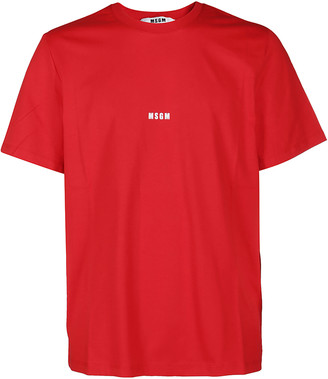 MSGM Red Cotton T-shirt
