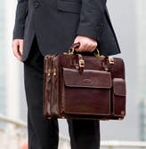 Maxwell Scott Bags Mens Classic Italian Leather Briefcase. 'The Alanzo'