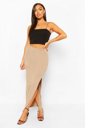 boohoo Petite Split Detail Maxi Skirt