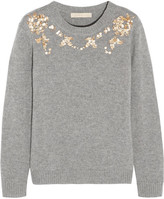 Vanessa Bruno Gosta Sequin-embellished Wool And Cashmere-blend Sweater - Gray