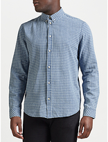 Samsoe & Samsoe Liam Long Sleeve Shirt, Light Blue Check