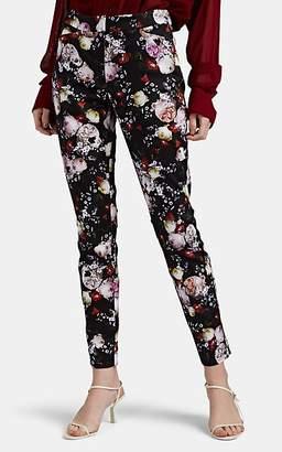 Erdem Women's Sidney Floral Crop Pants - Black Pat.