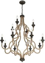 Eurofase Corda Collection 12-Light Bronze Chandelier
