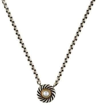 David Yurman Pearl Cookie Pendant Necklace