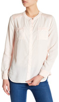 Splendid Mixed Media Long Sleeve Shirt